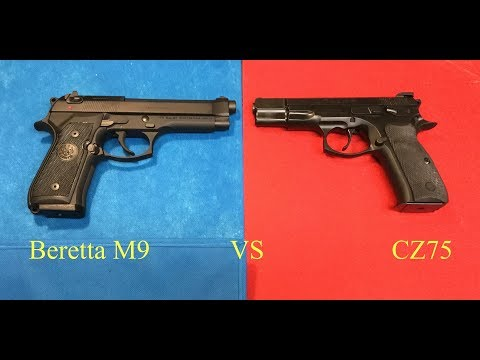 Beretta M9 vs.  CZ75 -  Battle of the Cold War Pistols