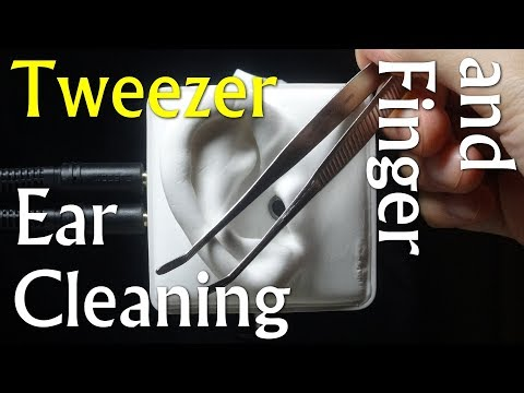ASMR | ピンセットで耳かき(指もあり) | Ear Cleaning with Tweezer | SR3D