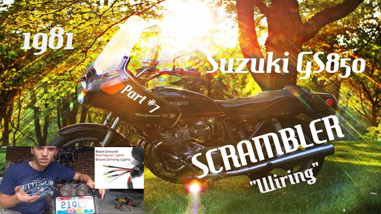 hight resolution of suzuki gs850 scrambler motorcycle build 8 how to wire a motorcycle