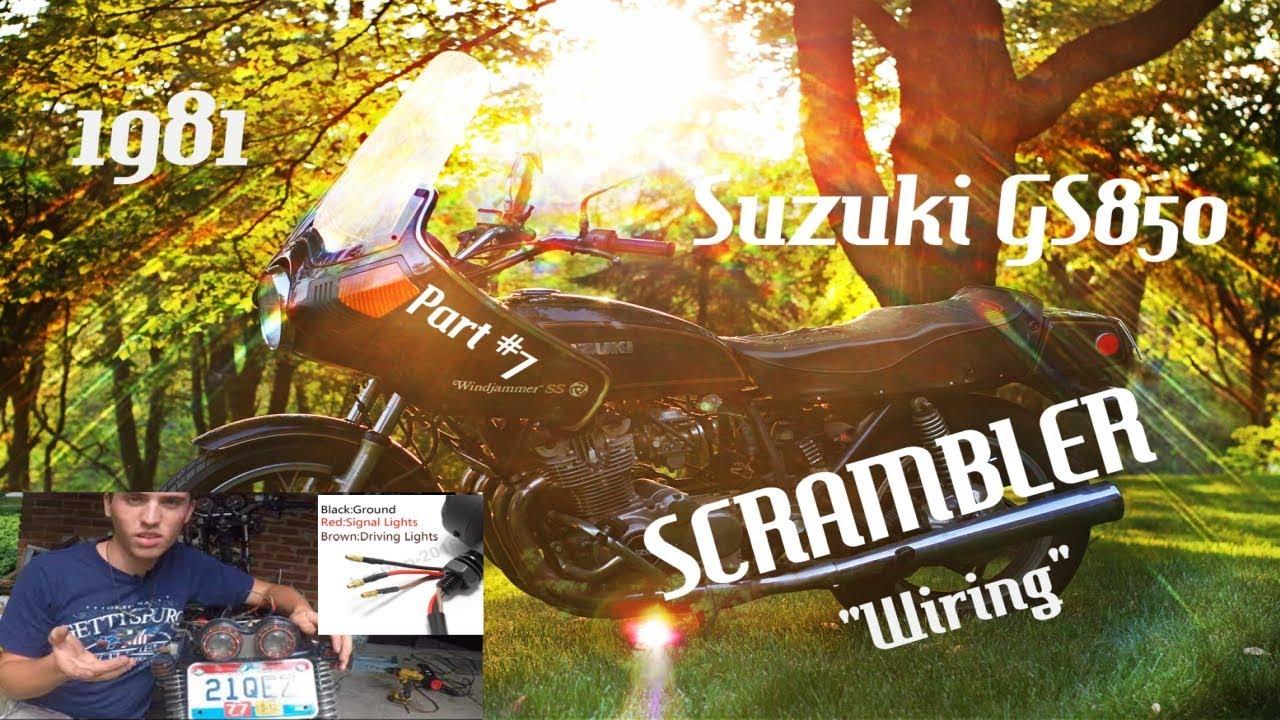 suzuki gs850 scrambler motorcycle build 8 how to wire a motorcycle  [ 1280 x 720 Pixel ]