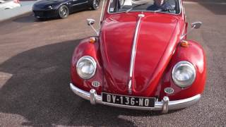 VW Coccinelle Ruby Red 1966 à vendre