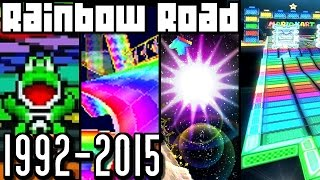 Mario Kart Rainbow Road EVOLUTION 1992-2015 (Wii U, 3DS, N64, SNES)
