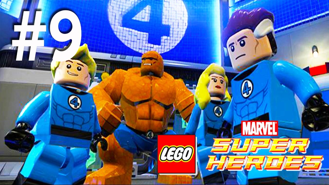 los 4 fant sticos lego marvel super heroes en espa ol videos de juegos para ni os parte 9. Black Bedroom Furniture Sets. Home Design Ideas