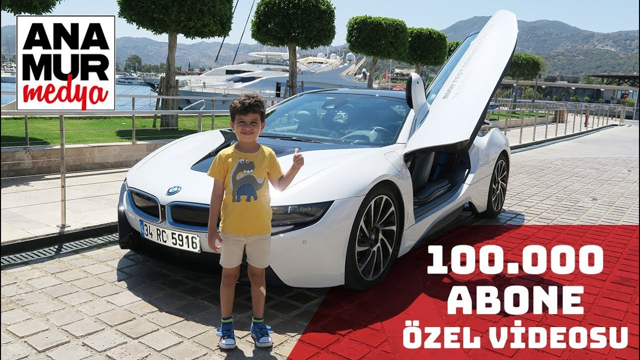 Bmw I8 Coupe Baba Ogul Test 100 000 Abone Ozel Videosu Youtube