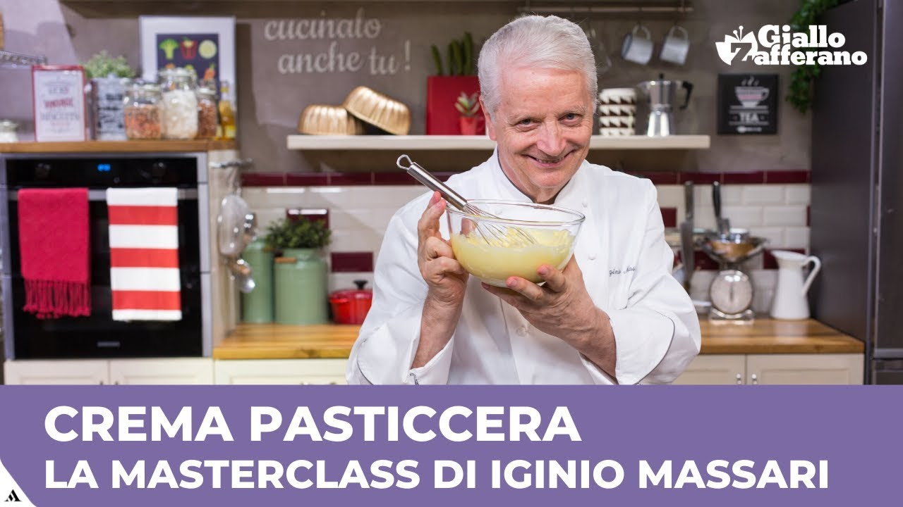 Youtube Ricetta Di Crema Pasticcera.Crema Pasticcera La Masterclass Di Iginio Massari Youtube
