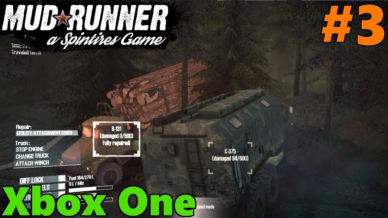 spintires mud runner xbox one let 39 s play part 3 truck. Black Bedroom Furniture Sets. Home Design Ideas