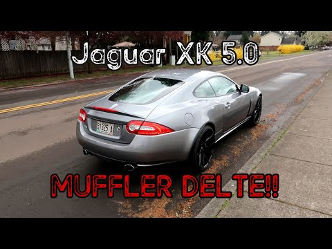 Jaguar XK 5.0 N/A Muffler Delete | It Sounds Like It's STRAIGHT PIPED!!!