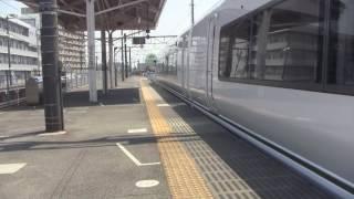 2017.04.29 足利駅 快速「快速足利大藤まつり号」 到着~発車