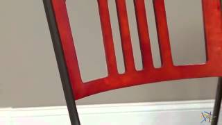 Innobella Destiny 38 In. Square Mission Rosso Folding Table With 4 Chairs - Product Review Video