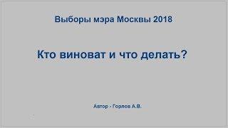Смотреть видео Выборы мэра Москвы 2018. Кто виноват и что делать? онлайн