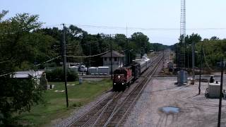 CP 3013 leads the TEC Train at Rondout, IL