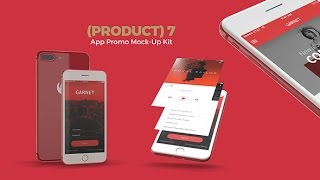 7 App Promo Mock-Up Kit | Free After Effects Template From Videohive | By Pixamins | 2017 Template