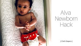 ALVA NEWBORN HACK | Cloth Diapers