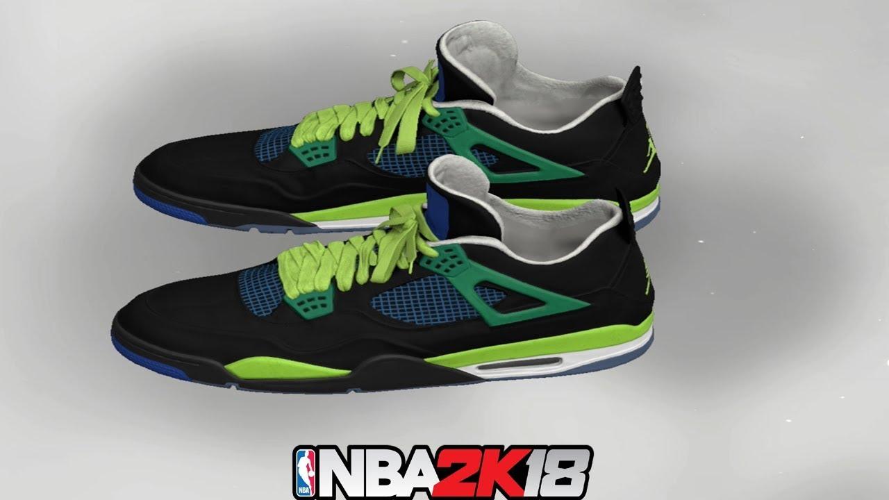 NBA 2K18 Shoe Creator ⋆#NBA2K18⋆ Jordan 4 Doernbecher