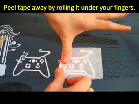 Vinyl sticker application with transfer tape family stickers on car windows youtube