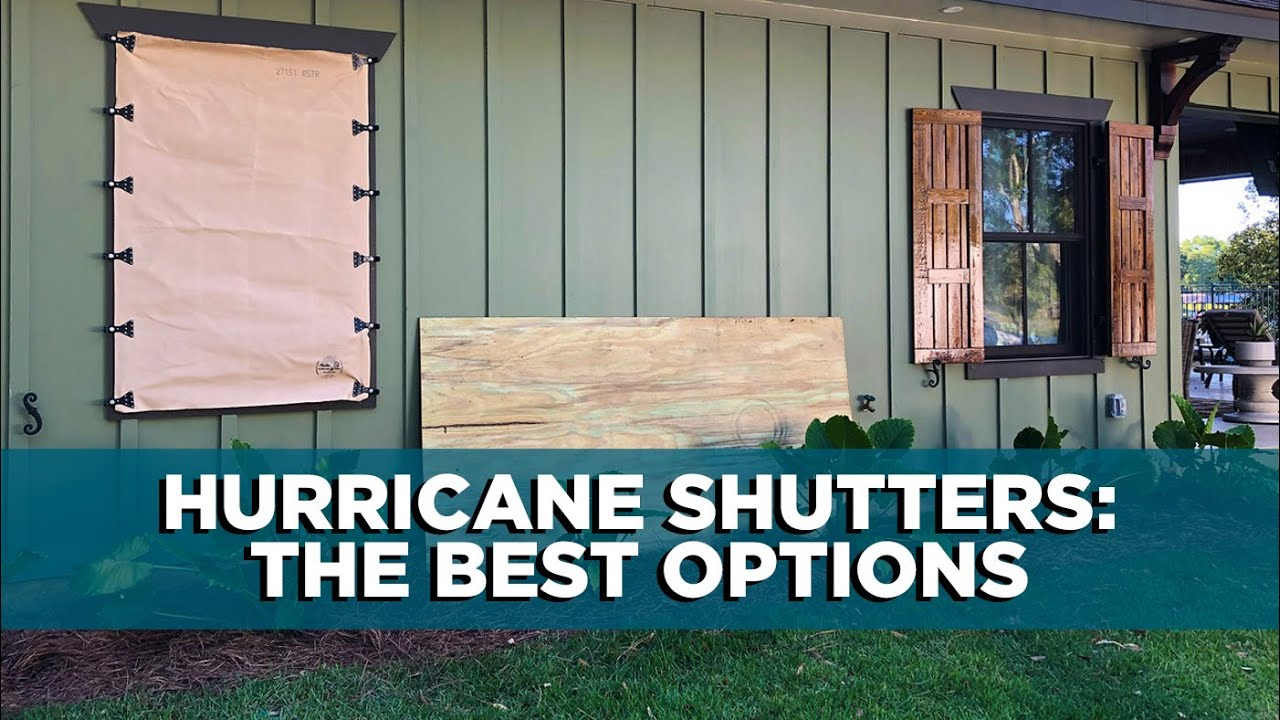 Hurricane Shutters The Best And Most Affordable Options Youtube