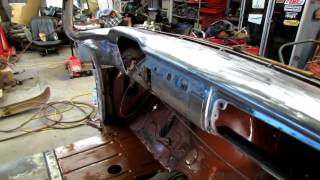 55 chevy truck sand blast and more rust repair