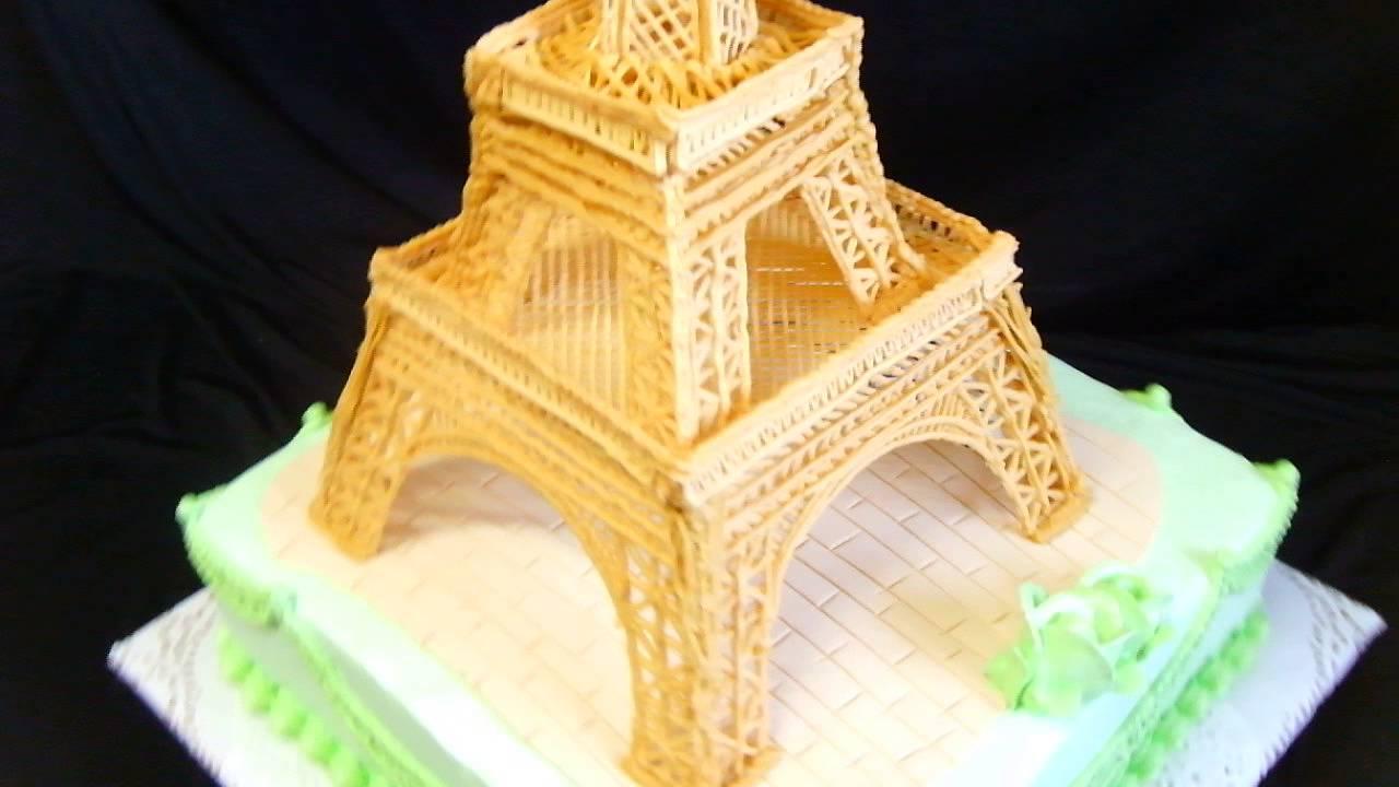 Eiffel Tower Cake | торт на заказ - YouTube