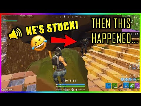 DAKOTAZ FOUND A PLAYER THAT GOT STUCK! THEN THIS HAPPENED...  Fortnite Funny & Fail moments