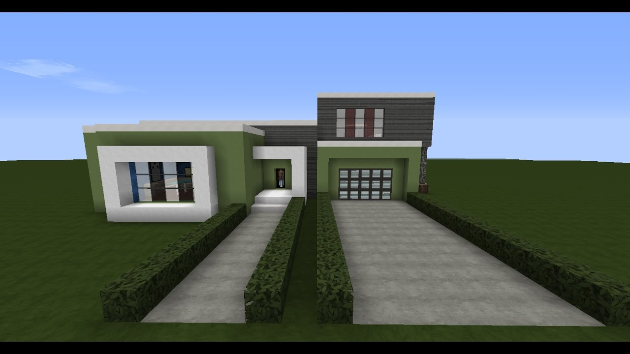 Cum sa construiesti o casa moderna in minecraft youtube for Casa moderna 10x10 minecraft