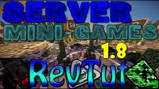 Servidor Mini-Games PIRATA/ORIGINAL 1.8 REVTUT   Sky Wars   Survival Games e +