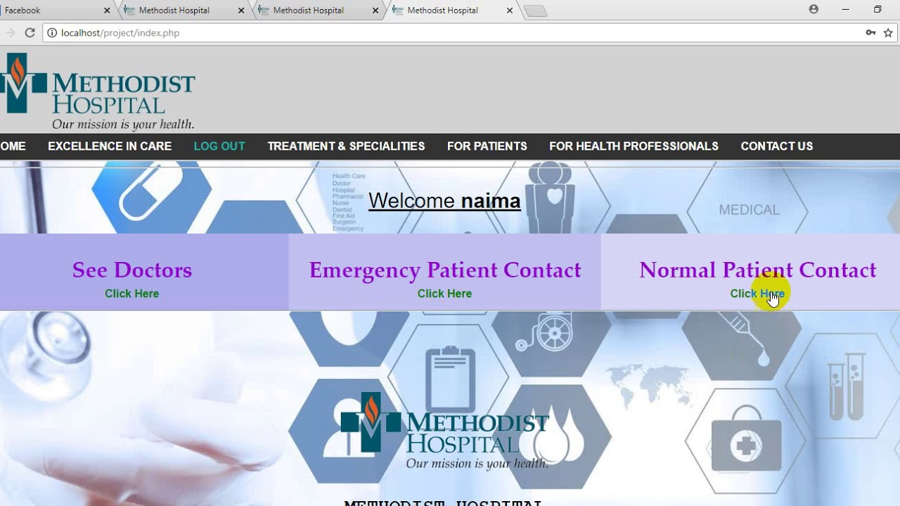 Web database project | project with html,css,php,javascript,mysql |  Hospital Management System