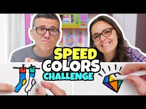 SPEED COLORS CHALLENGE: Sfida a Colorare con i Pennarelli