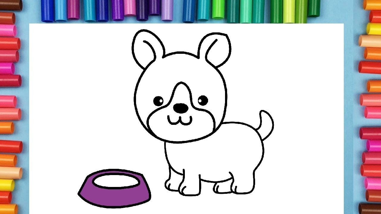 How to draw a puppy dog coloring pages for kids jessi the unicorn