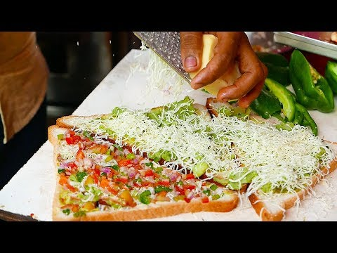 Indian Street Food - INCREDIBLY FAST Potato Sandwich Man
