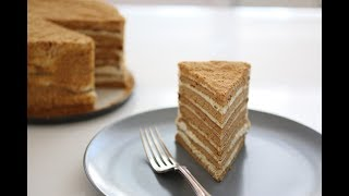 Russian Honey Cake recipe (Medovik)