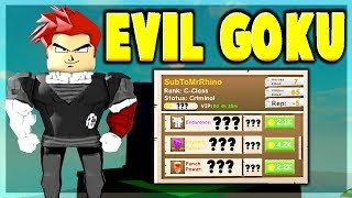 Roblox: EVIL GOKU DISGUISE USING ENERGY SPHERE ONLY!!! | Power Simulator