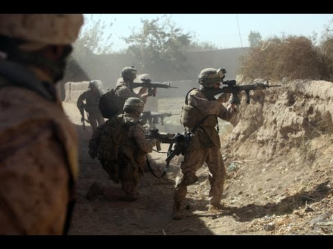U.S. Marines in Afghanistan  - Brutal FIREFIGHT and CLASHES With Taliban. Real Combat 720p HD