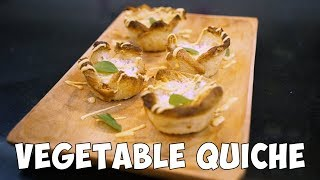EGGLESS VEGETABLE QUICHE