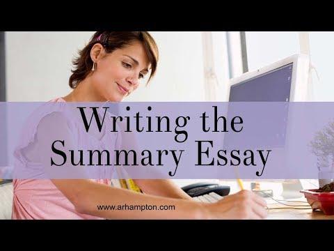 Видео Summary essay samples