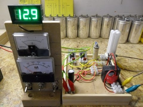 Joule Thief_HF Inverter_Oscillator - Update 12 Running a gutted 20watt CFL light bulb...
