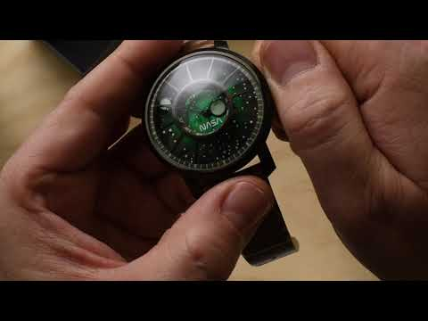 Xeric Trappist 1 NASA Cosmic Nebula Green Watch Unboxing