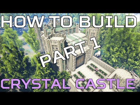 🦄 Hidden lake HOW TO BUILD Crystal Castle | Ark Survival [NO MODS