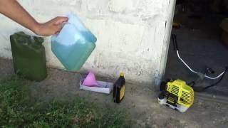видео Смесь бензина и масла для двухтактных двигателей