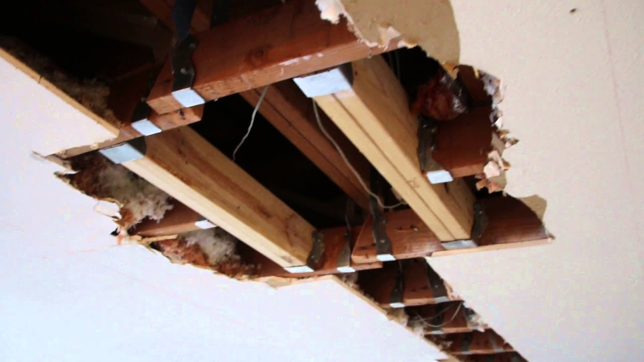 How to remove a load bearing wall part 2 youtube for Removing part of a load bearing wall