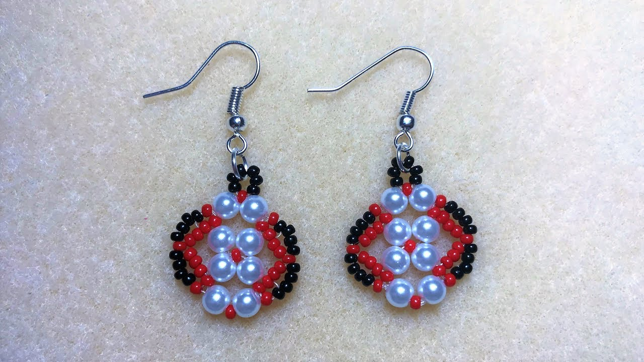 How To Make Simple Beaded Earring At Home Jewelry