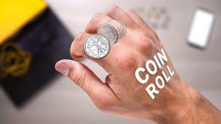 Learn to Roll a Coin Across Your Knuckles