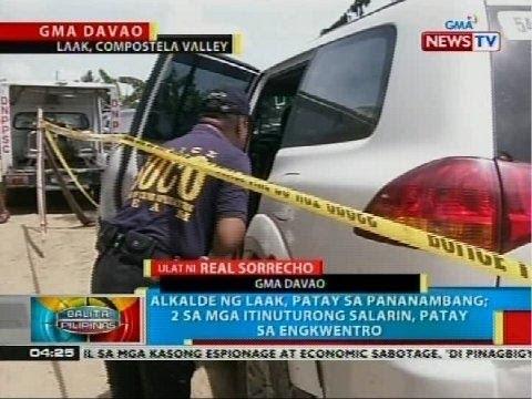 Alkalde ng Laak, Compostela Valley, patay sa pananambang sa Davao del Norte