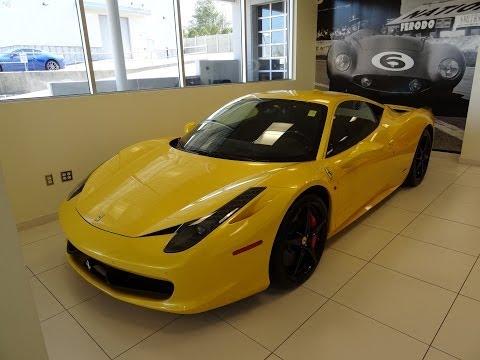 Awesome Yellow Ferrari 458 Italia!