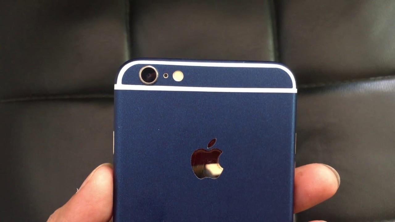 Custom blue iphone 6 plus skin