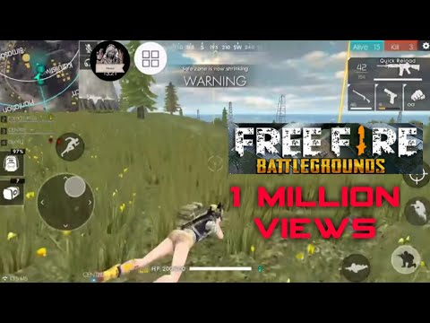 Free fire battlegrounds team play squad (full gameplay)