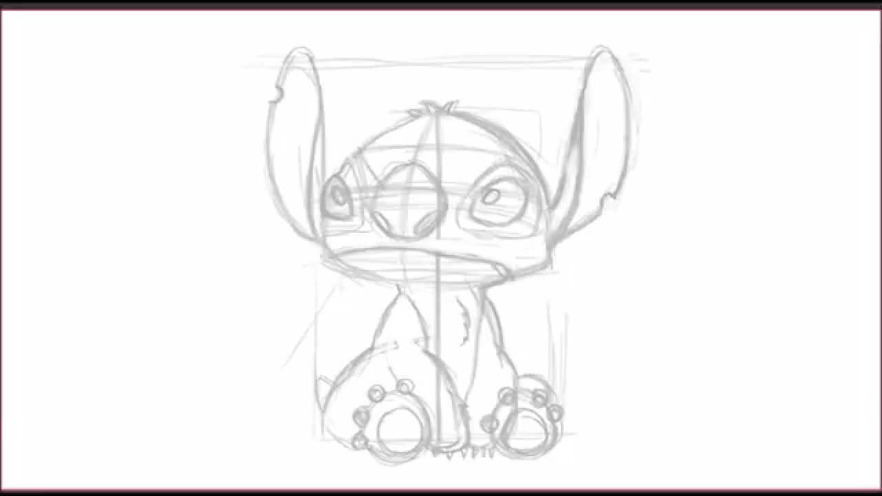 Como Dibujar A Stitch De La Película Lilo Y Stich How To Draw