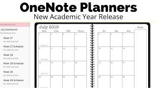 2019/2020 Academic Planners for OneNote New Release || #theawesomeplanner