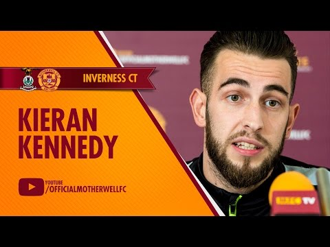 Kieran Kennedy pre Inverness 31/03/2016