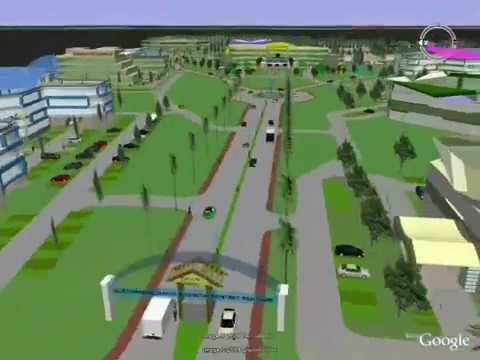 3D Visualization SketchUp Google Earth Putri Creek Garden