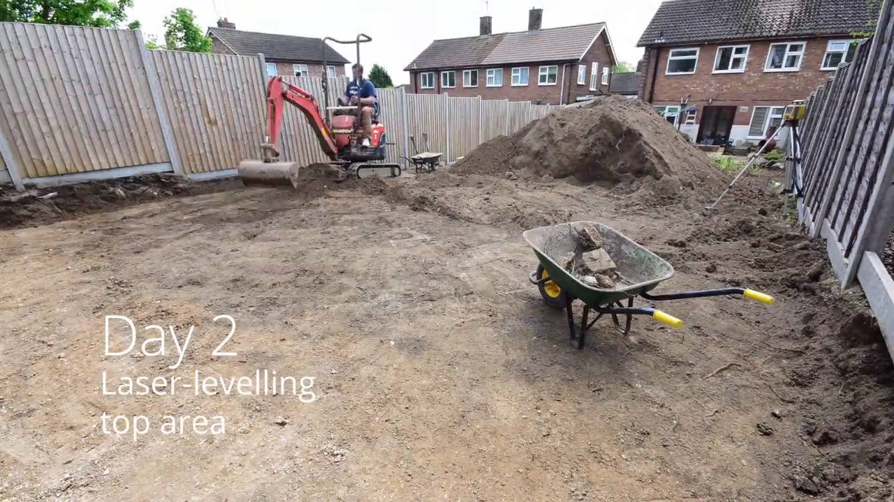 garden project phase 1 digging and levelling youtube